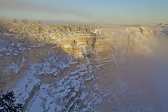 Grand Canyon Snow Stock Image