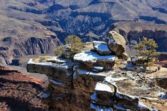 Grand Canyon snow Royalty Free Stock Photos