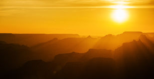 grand canyon słońca Obrazy Royalty Free