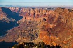 Grand Canyon solnedgång Fotografering för Bildbyråer