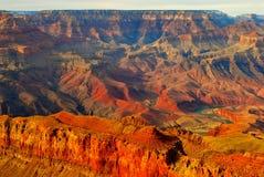 Grand Canyon am Sonnenuntergang Stockbilder
