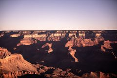 Grand Canyon, South RIM Arizona. Landscape photography at sunrise. The Grand Canyon is one of the most beautiful landscapes int he world, for its incredible stock photo