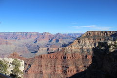 Grand Canyon South Rim. Clear blue sky day Arizona Mohave desert national park Royalty Free Stock Photography