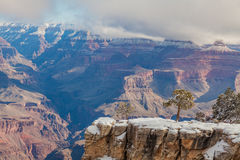 Grand Canyon South Rim Landscape in Winter Royalty Free Stock Photo