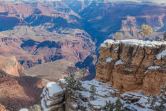 Grand Canyon South Rim Scenic in Winter Royalty Free Stock Photo