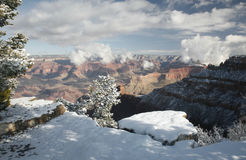 Grand Canyon, South Rim Snow Stock Photography