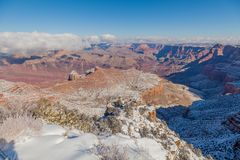 Grand Canyon South Rim Winter Landscape Royalty Free Stock Images