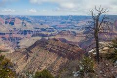 Grand Canyon South Rim Winter Stock Image