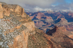 Grand Canyon South Rim in Winter Royalty Free Stock Photography