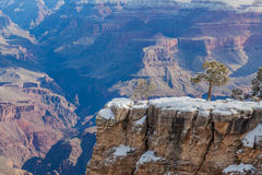 Grand Canyon South Rim in Winter Royalty Free Stock Image