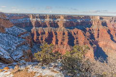 Grand Canyon South Rim in Winter Royalty Free Stock Images