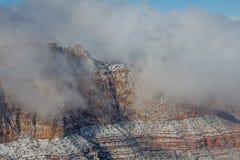 Grand Canyon South Rim Winter Storm Stock Photo