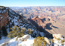 A Grand Canyon South Rim Winter View Royalty Free Stock Photo