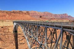 Grand Canyon Steel bridge Stock Photography