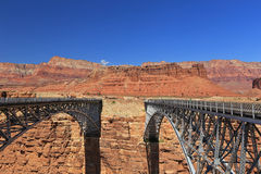 Grand Canyon Steel bridge Royalty Free Stock Photography