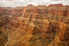 Grand Canyon stor vägg Arkivfoton