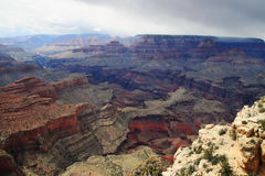 Grand Canyon with storm Royalty Free Stock Images