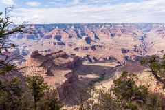 The Grand Canyon on a summer afternoon. Overlooking the Grand Canyon from the Southern Rim, west of Grand Canyon Village stock images