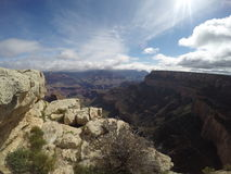 Grand Canyon Sunny Day arkivbild