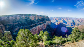 Grand Canyon sunny day with blue sky Royalty Free Stock Photos