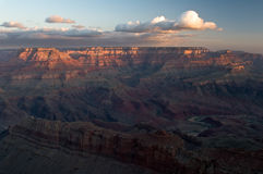 Grand Canyon sunrise Stock Images