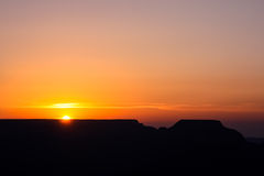 The Grand Canyon. Sunrise at the Grand Canyon royalty free stock image