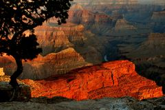 Grand Canyon Sunrise Colors stock images