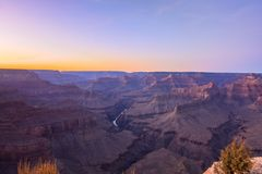 Grand Canyon Sunrise from Hermest Trail Point. Amazing Sunrise Image of the Grand Canyon taken from Hermest Trail royalty free stock photos