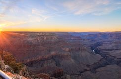 Grand Canyon Sunrise from Hermest Trail Point. Amazing Sunrise Image of the Grand Canyon taken from Hermest Trail royalty free stock images