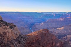 Grand Canyon Sunrise from Hermest Trail Point. Amazing Sunrise Image of the Grand Canyon taken from Hermest Trail royalty free stock photography