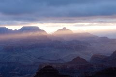 Sunrise over the Grand Canyon Arizona, USA stock photo