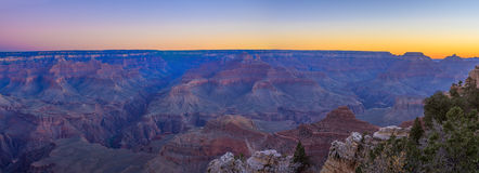 Grand Canyon Sunrise from Mather Point. Amazing Sunrise Image of the Grand Canyon taken from Mather Point stock photo