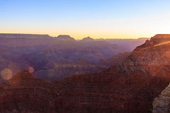 Grand Canyon Sunrise from Mather Point. Amazing Sunrise Image of the Grand Canyon taken from Mather Point stock photography