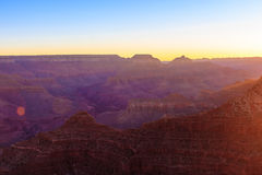 Grand Canyon Sunrise from Mather Point. Amazing Sunrise Image of the Grand Canyon taken from Mather Point stock image