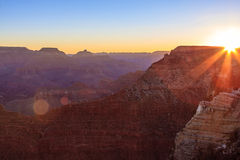 Grand Canyon Sunrise from Mather Point. Amazing Sunrise Image of the Grand Canyon taken from Mather Point royalty free stock photography
