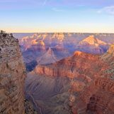 Grand Canyon Sunrise from Mather Point. Amazing Sunrise Image of the Grand Canyon taken from Hermest Trail stock photo