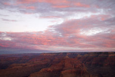 Grand Canyon Sunrise. The painted sky of a Grand Canyon sunrise Royalty Free Stock Image