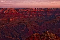 Grand Canyon sunrise south rim overlook2 Stock Image