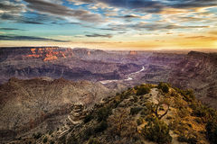 Grand Canyon at sunrise. A view of the Grand Canyon at sunrise Stock Image