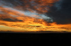 Grand Canyon Sunset. A colorful sunset in the Grand Canyon royalty free stock photo