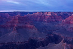 The Grand Canyon at Sunset Stock Photography