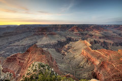 Grand Canyon Sunset Stock Photography