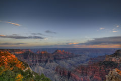 Grand Canyon at sunset stock images