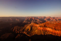 The Grand Canyon. Sunset at the Grand Canyon Stock Photo