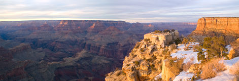 Grand Canyon Sunset. Panoramic sunset from Grand Canyon National Park in Arizona Stock Photo