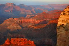 Grand Canyon At Sunset Stock Image