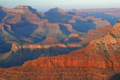 Grand Canyon Sunset. Sunset in the Grand Canyon, captured from Yavapai Point in Grand Canyon National Park, Arizona Stock Photo