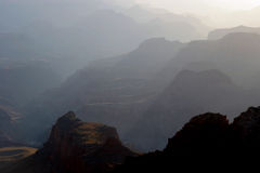 Grand Canyon at sunset. Grand Canyon captured at sunset from South Rim. Canon 20D Royalty Free Stock Images