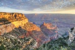 The Grand Canyon at sunset Royalty Free Stock Photos