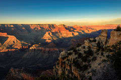 Grand Canyon on sunset Stock Photography